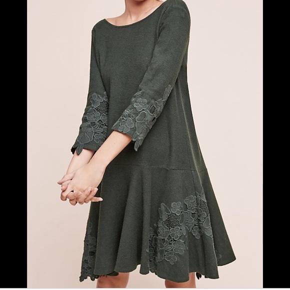 Anthropologie Dresses & Skirts - Anthropologie Tierra green dress!